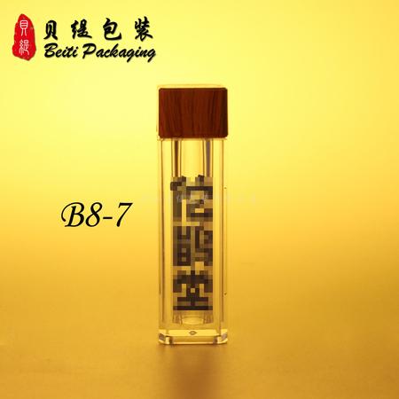 便携装 方型保健品小瓶带木纹盖 米斛孢子鹿茸粉绝配包装 中国风